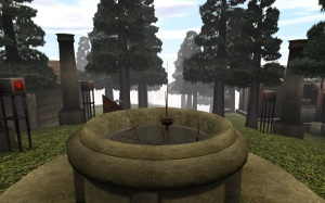 The courtyard area with the stone basin.  (realMyst)